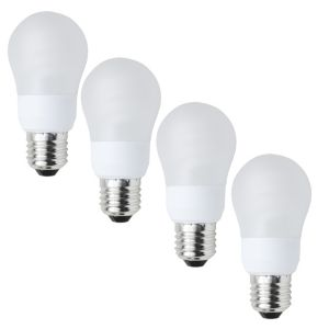 View Diall ES(E27) Fluorescent Globe Bulb, Pack of 4 details