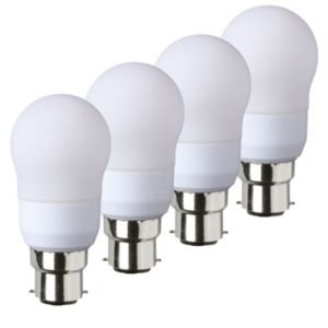 View Diall Bayonet Cap (B22D) 9W Fluorescent GLS Light Bulb, Pack of 4 details