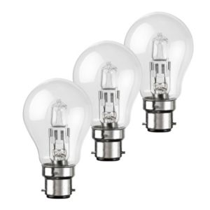 View Diall Bayonet Cap (B22) 42W Halogen GLS Light Bulb, Pack of 3 details