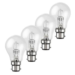 View Diall Bayonet Cap (B22) 42W Halogen Eco GLS Light Bulb, Pack of 4 details