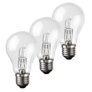 View Diall Edison Screw Cap (E27) 70W Halogen Eco GLS Light Bulb, Pack of 3 details