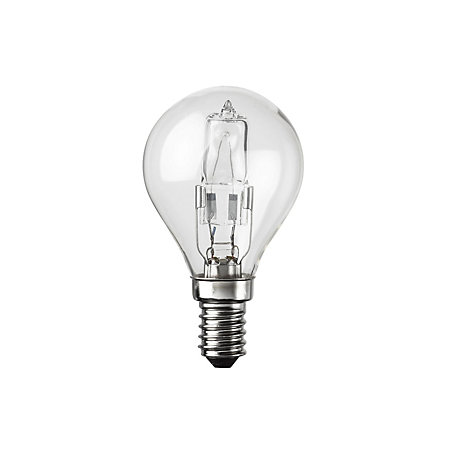 diall e14 42w halogen eco dimmable round light bulb. Black Bedroom Furniture Sets. Home Design Ideas