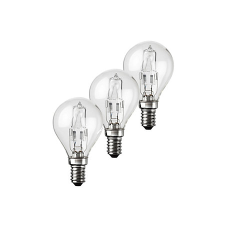 diall e14 42w halogen eco dimmable round light bulb pack. Black Bedroom Furniture Sets. Home Design Ideas