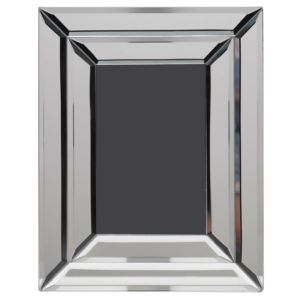 View Mirrored Effect Bevelled Mirror Wood Picture Frame details