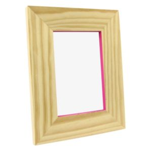 View Pink Pine Effect Wood Picture Frame (H) 220mm x (W)170mm details