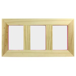 View White Wood 3 Aperture Picture Frame (H) 430mm x (W)220mm details