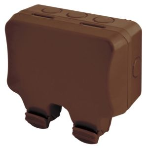Image of Diall 13A Brown Double External Switched Socket