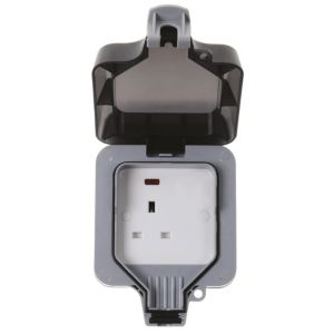 View Diall Grey Switched Single Outdoor Socket details