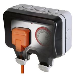 Diall 13A 1-Gang External Timer Controlled Socket