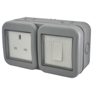 View Diall 13A 1-Gang External Socket & 2 Way Single Switch details