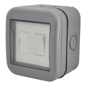 Image of Diall Waterproof 1-Gang 1 Way Switched Fused Connection Unit