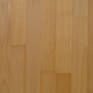 40mm Solid Wood Beech Square Edge Breakfront Worktop (L)3000mm (D)675mm
