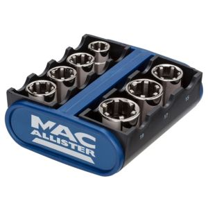 View Mac Allister Chrome Vanadium Steel Socket Set (H)67mm (L)264mm, Set of 7 details