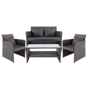 View Morley Rattan Effect 4 Seater Coffee Set details
