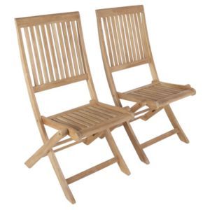 View Roscana Teak Wooden Dining Chair, Pack of 2 details