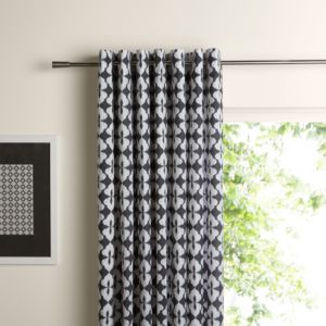 View Colours Skye Eyelet Black & White Curtains (W)2280mm (L)2280mm details