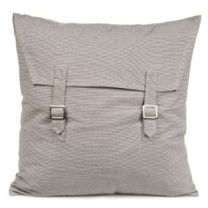 View Malghera Stripe Buckle Natural Pebble Cushion details