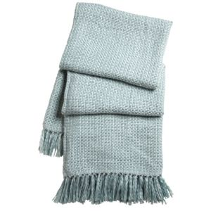 View Colours Malban Pale Blue Plain Knitted Throw details