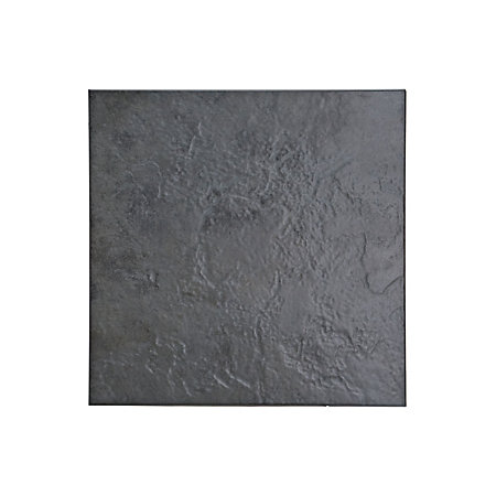 Cirque Black Stone Effect Ceramic Floor Tile Pack Of Lmm - Grey bathroom tiles bq
