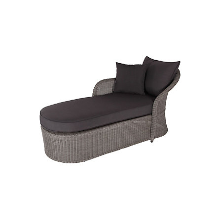 0 00   0 00. Comoro Rattan Effect Sunlounger   Departments   DIY at B Q