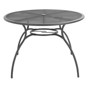 View Coburg Metal Round Dining Table Dark Grey details