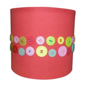 View Colours Matilda Red/Multicolour Coral Button Light Shade (Dia)200mm details