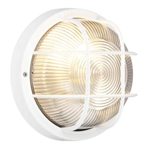 Blooma marin white external wall bulkhead light for Housse blooma