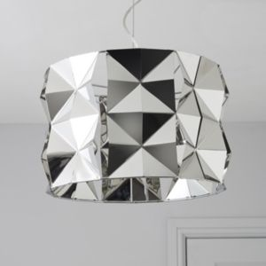 View Ciara Faceted Chrome Effect Pendant Ceiling Light details