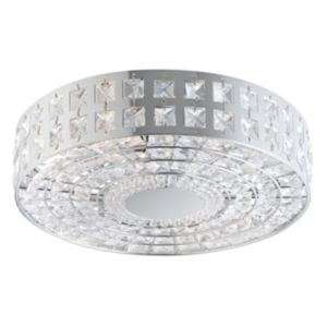 View Palena Chrome Effect 2 Lamp Ceiling Light details
