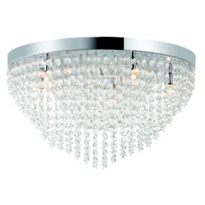 View Colours Isidra Beaded Silver Beaded Pendant Ceiling Light details
