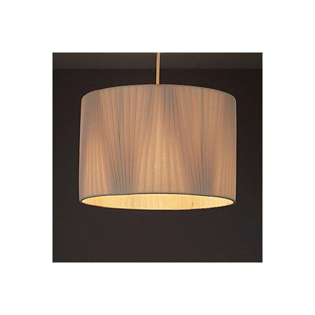 Colours lainie pearl v pleat light shade d 300mm for B q bedroom lighting