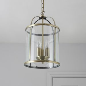 View Meira Antique Effect 3 Lamp Pendant Ceiling Light details