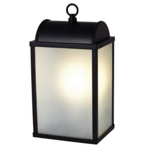 View Blooma Nicolaus Black Frosted Glass Exterior Lantern details