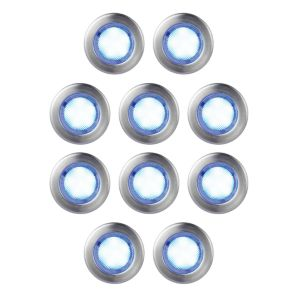 View Blooma Absolus Blue LED Deck Lighting Kit, Pack of 10 details