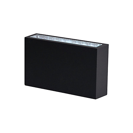 Blooma luyten black exterior wall light departments for Housse blooma