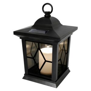 View Blooma Maury Black Solar Powered LED Lantern details