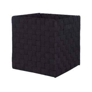 Image of Black Non woven fabric & polyester Storage basket