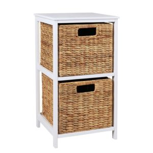 View Form Beige & White MDF & Solid Pine 2 Drawer Tower Unit details