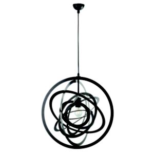 View Colours Asteroid Orbit Black Matt Pendant Ceiling Light details