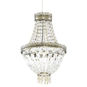 View Colours Jamena Antique Brass Effect Ball Light Shade details