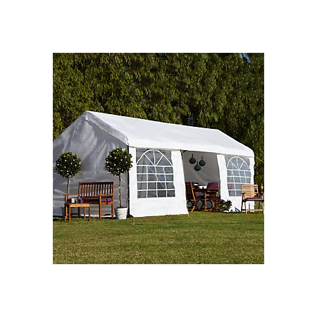 Blooma betty white garden party gazebo departments diy for Housse blooma