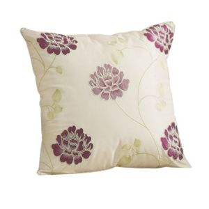 View Lavendula Floral Cream & Purple Cushion details