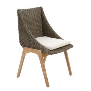 View Retro Rattan Effect Dining Chair details