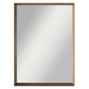 View Colours Kahiwa Oak Effect Rectangular Mirror (L)320mm (W) 420mm details