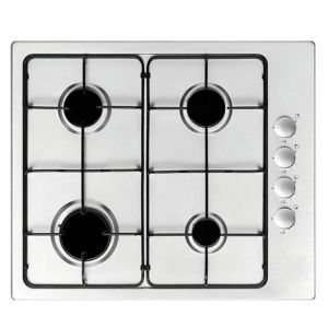 Cooke & Lewis 4 Burner Stainless Steel Gas Hob