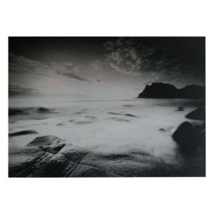 View Silver Shores Black & White Wall Art (W)160cm x (H)110cm details