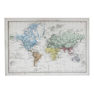 View Vintage Map Multicolour Canvas (W)1.6m x (H)1.1m details