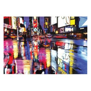 View Times Square Multicolour Wall Art (W)160cm x (H)110cm details