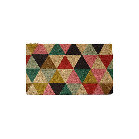 Colours Lami Multicolour Geometric Coir Door Mat L 0 75m