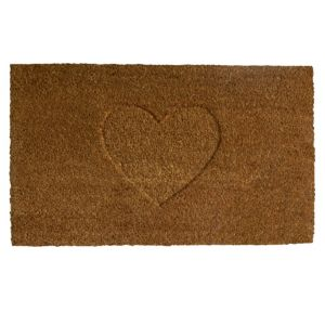 View Colours Rudia Heart Coir Door Mat (L)750mm (W)450mm details